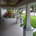 The restored front porch