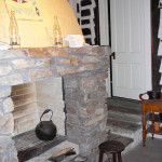 You can see the date 1876 above the fireplace. Photo courtesy Hollerbaugh family.