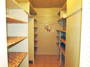 Huge walk-in pantry