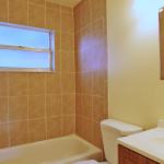 very clean updated bathroom