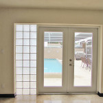 French door opens to the pool
