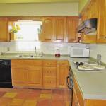 Solid wood cabinet & Corian countertop