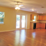 Very open and spacious living/dining
