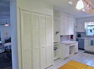 Kitchen has many storage area