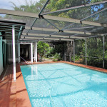 Big sparkling pool with total privacy