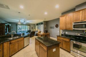 Open kitchen with Breakfast area