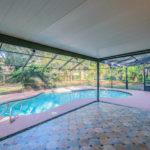 Spacious screened pool area